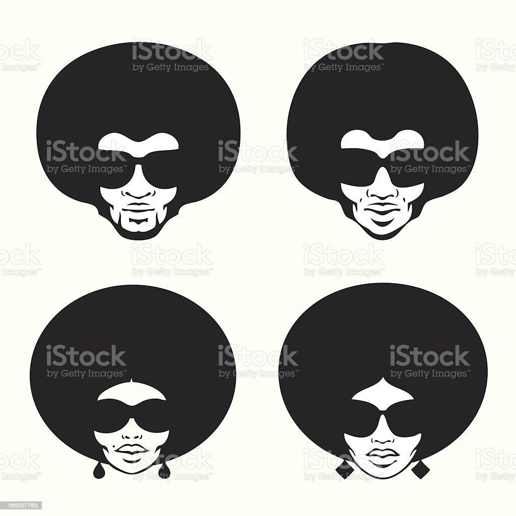 afro style vector art illustration