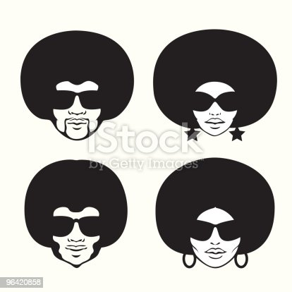 four head silhouette.editable vector illustration.separate layers.include fileS:eps8,ai10,aics2 and 300dpi jpg