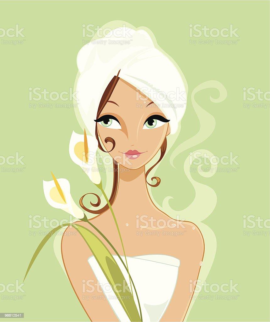 After Beauty Treatments vector art illustration