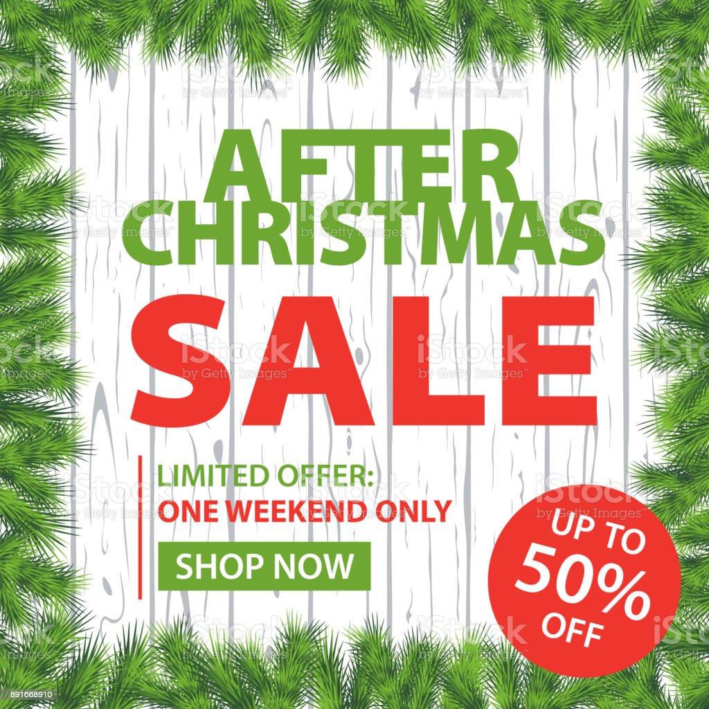 Bilder Nach Weihnachten.Nach Weihnachten Verkauf Niederlassungen Und Zaun Square Hintergrund
