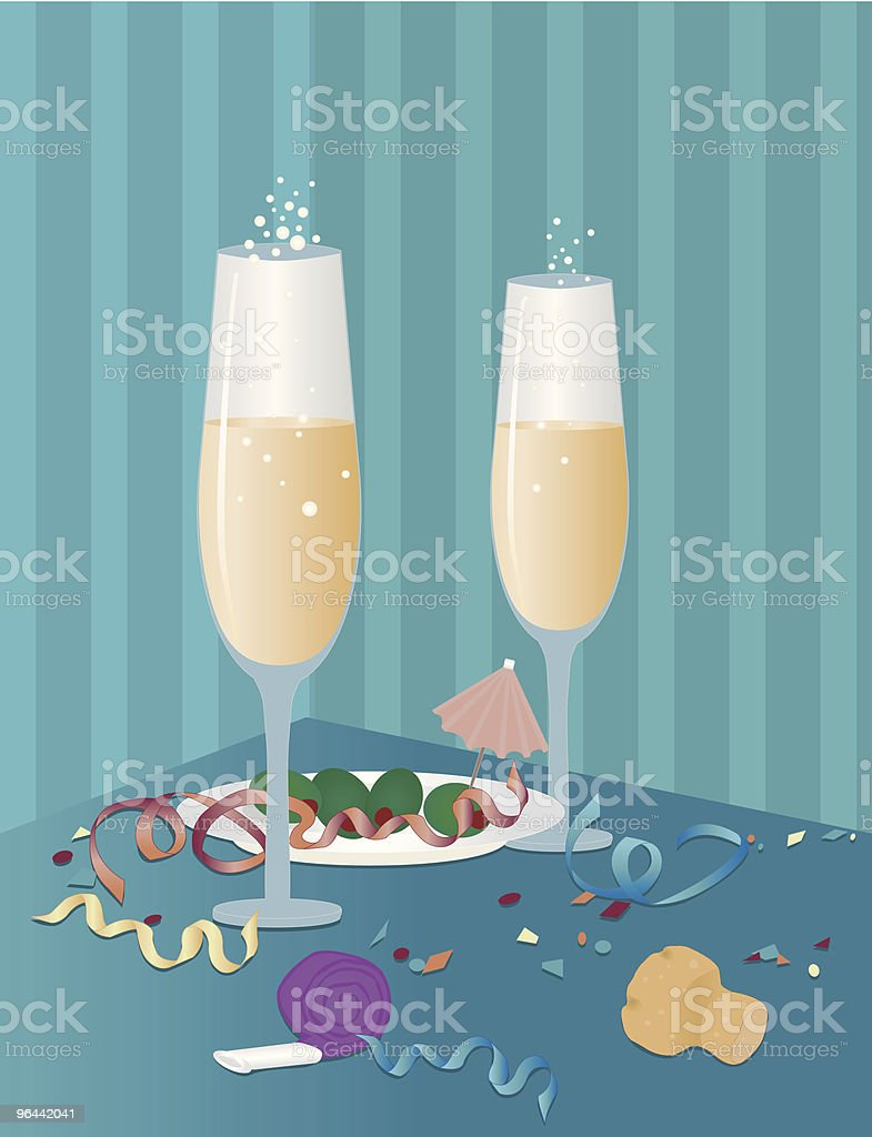 After Midnight - Royalty-free Appetizer stock vector