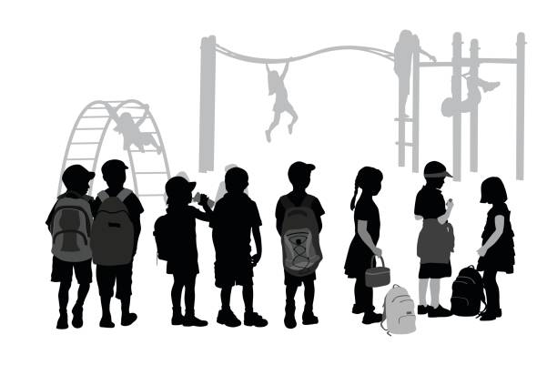 after school playground - recess stock illustrations, clip art, cartoons, & icons