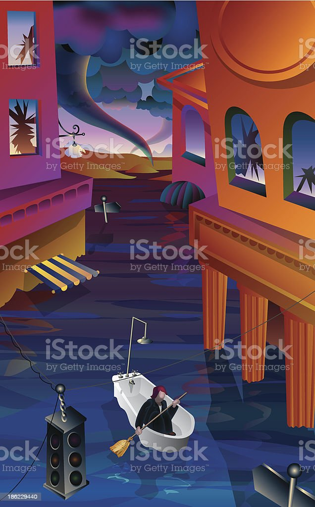 After the Storm royalty-free stock vector art