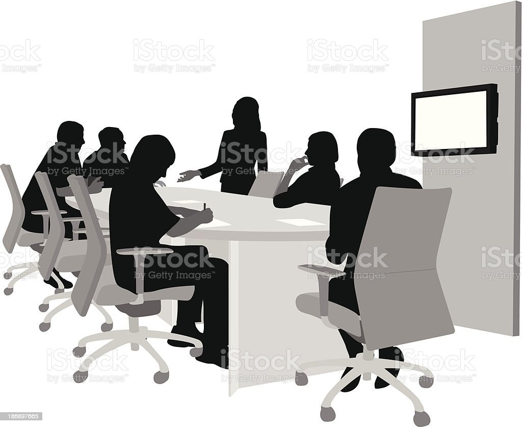 Afternoon Meeting royalty-free stock vector art