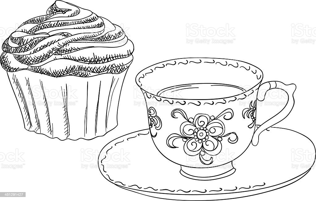 Afternoon tea royalty-free stock vector art