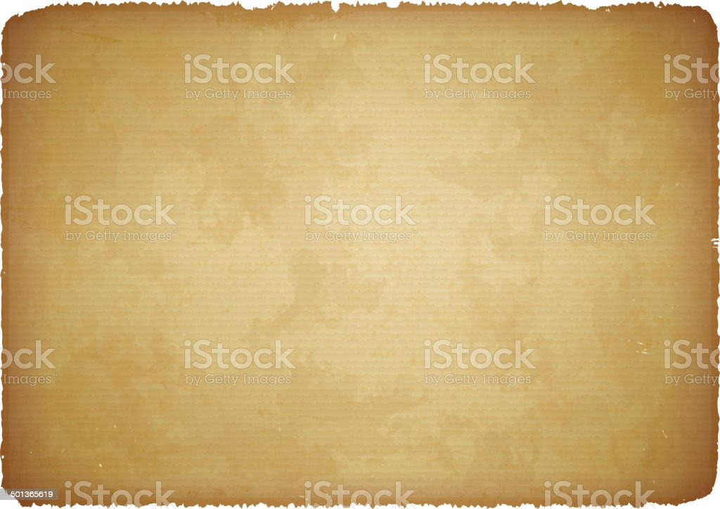 Aged paper with torn edges vector art illustration