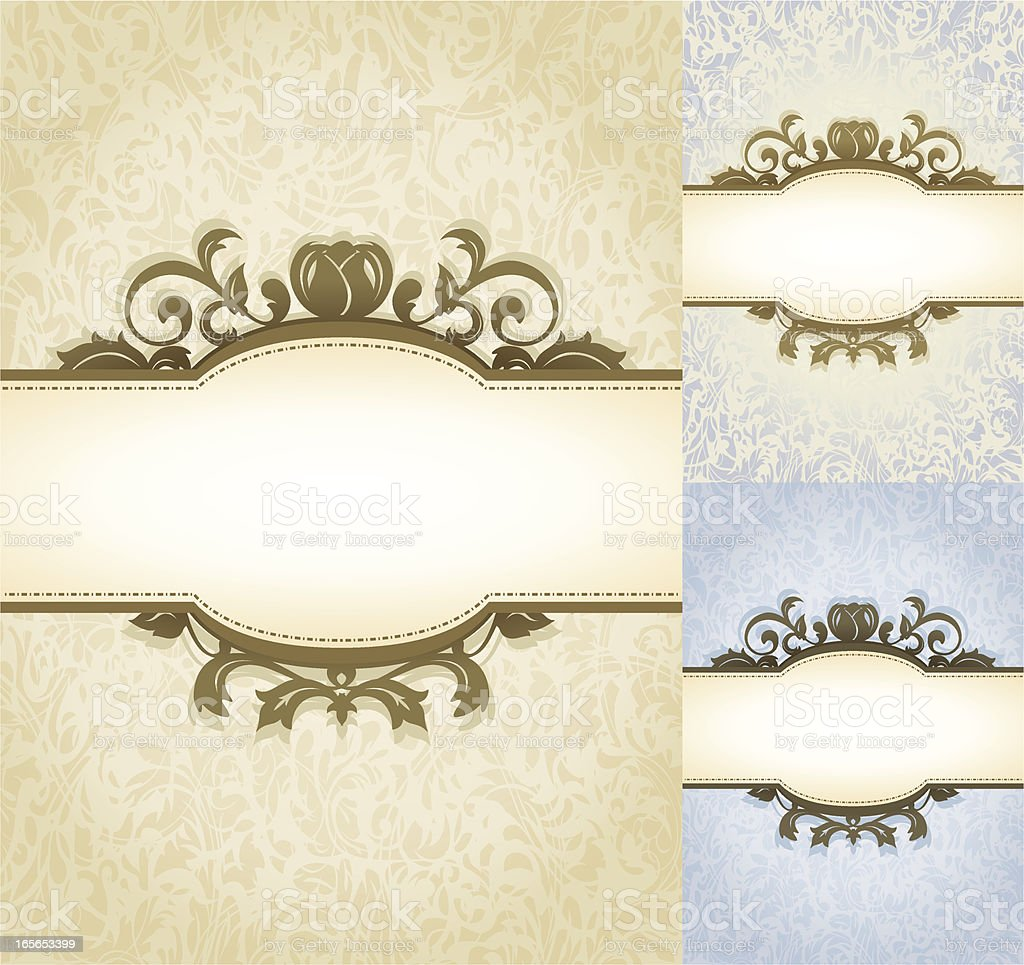 Aged Parchment Royal Background royalty-free stock vector art