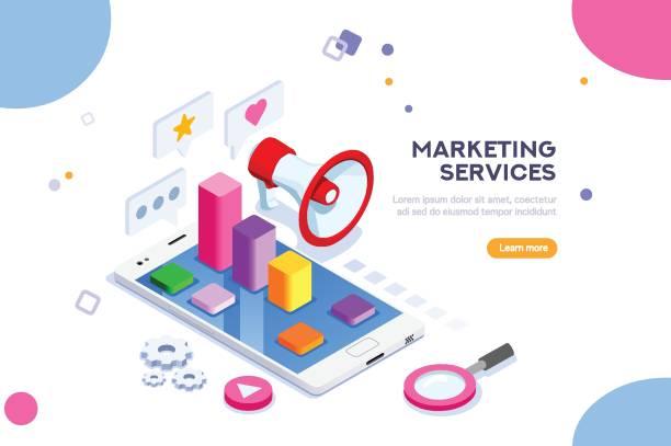 agentur und digitales marketingkonzept - reisebüro stock-grafiken, -clipart, -cartoons und -symbole