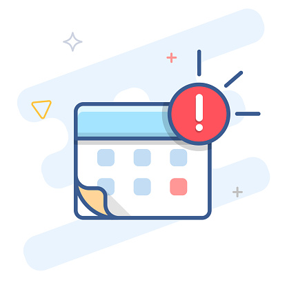 Agenda notification vector line icon. Event reminder outline illustration.