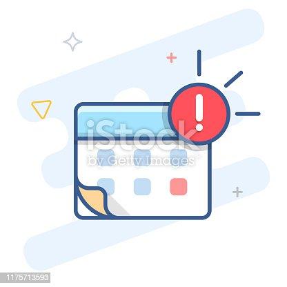 Agenda notification vector line icon. Event reminder outline illustration. eps 10