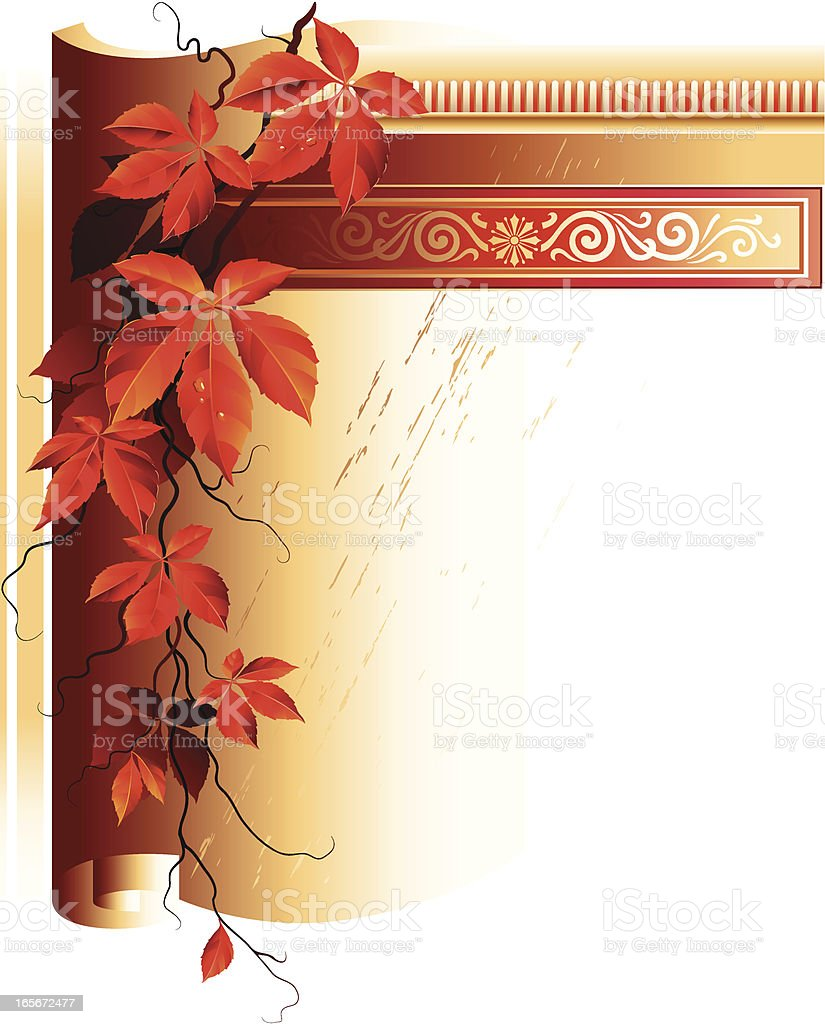 Age-old vignette royalty-free stock vector art