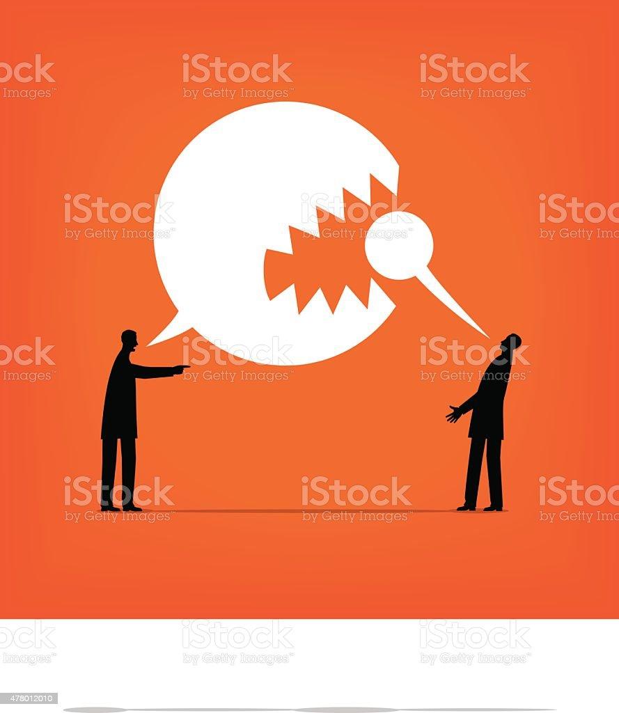 Aggression vector art illustration
