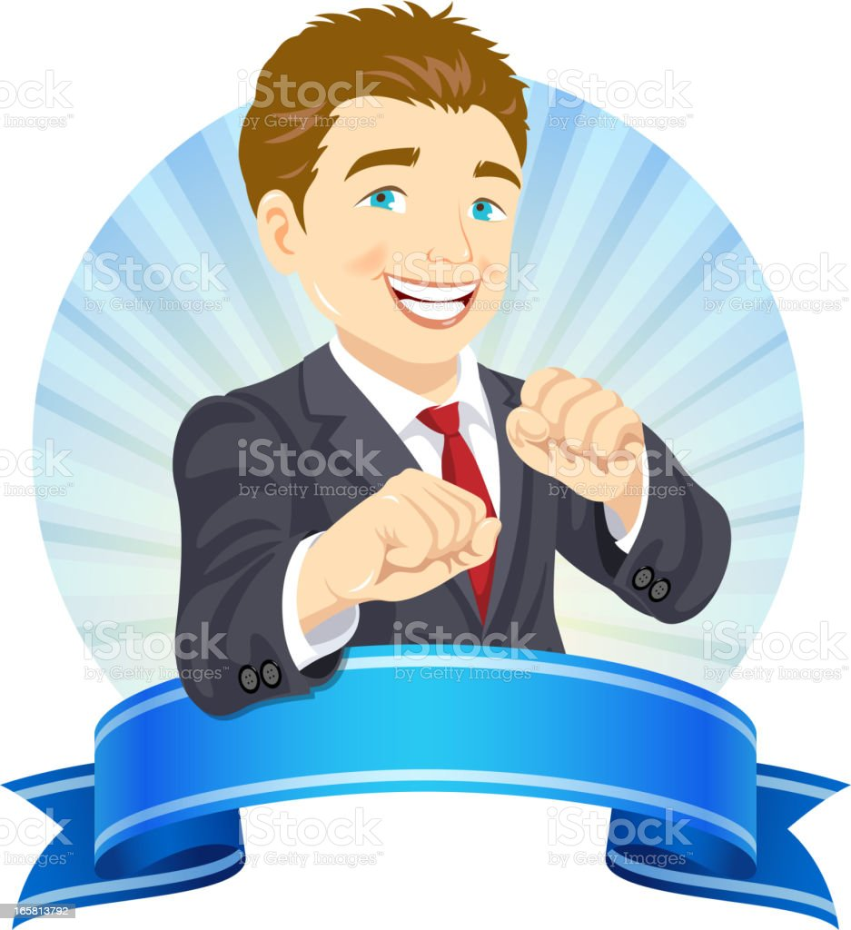 Aggressive Businessman royalty-free stock vector art