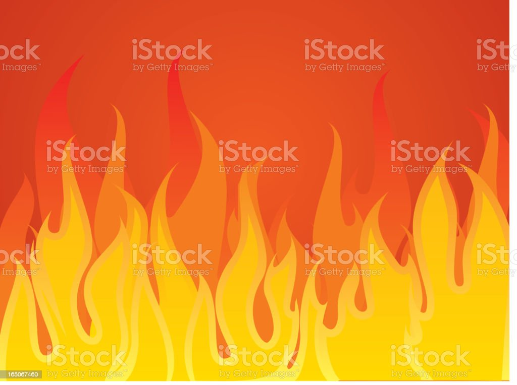 aggressive fire vector art illustration