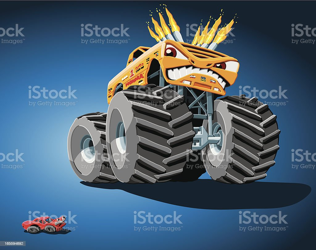 Aggressive Monster Truck royalty-free aggressive monster truck stock vector art & more images of 4x4