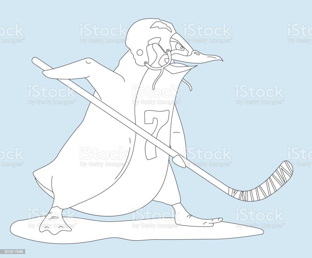 Excelente Página Para Colorear De Hockey Embellecimiento - Dibujos ...