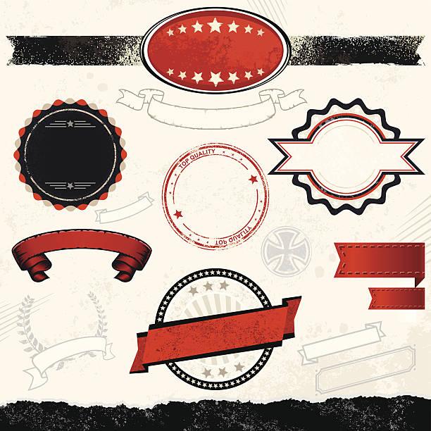 Aggressive Design-Element – Vektorgrafik