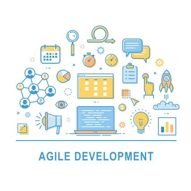 Agile development icon vector vector art illustration
