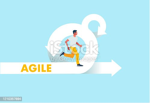 istock Agile development methodology icon vector illustration. Agile Life Cycle Icon Vector. 1210357694