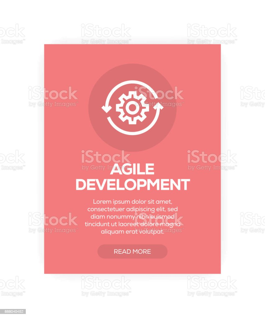 Agile Development vector art illustration