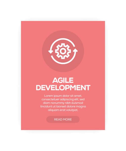 Agile Development vector art illustration