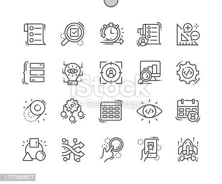 istock Agile development Well-crafted Pixel Perfect Vector Thin Line Icons 30 2x Grid for Web Graphics and Apps. Simple Minimal Pictogram 1177594871