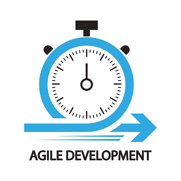 agile development,stopwatch concept ,icon and symbol - sekwencja obrazu stock illustrations