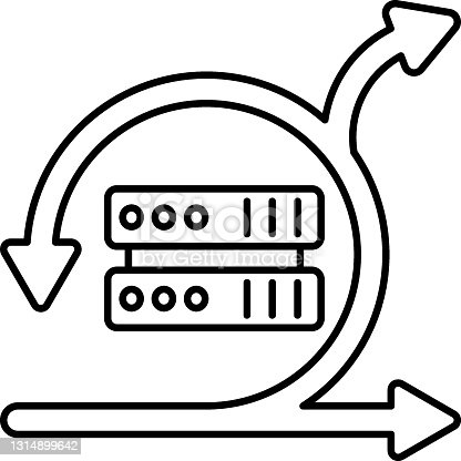 Agile Server Concept, Web Hosting Machine or Node Vector Icon Design, Software and web development symbol on white background, Computer Programming and Coding stock illustration
