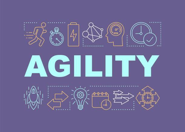 ilustrações de stock, clip art, desenhos animados e ícones de agility word concepts banner - agilidade