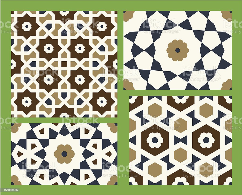 Agra Seamless Patterns Set One royalty-free agra seamless patterns set one stock vector art & more images of arabic style