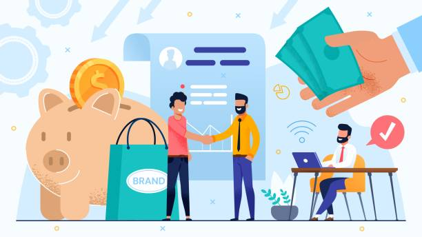Vereinbarung und Händler für Markenentwicklung – Vektorgrafik