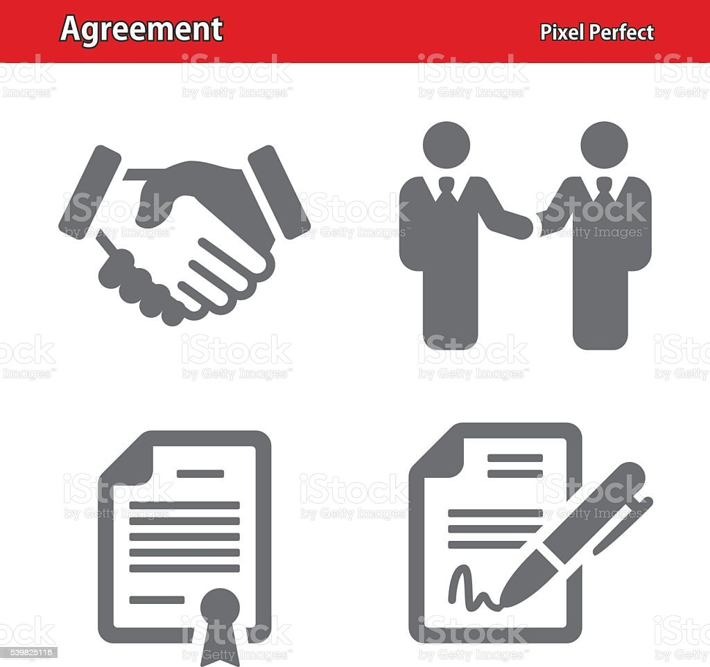 Agreement Icons vector art illustration