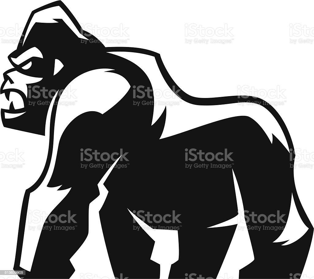 royalty free silverback gorilla clip art vector images rh istockphoto com Cute Gorilla Clip Art gorilla clipart black and white free