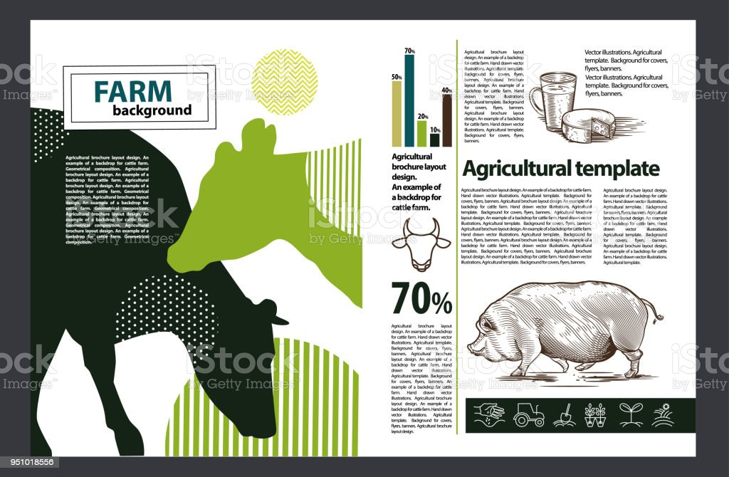 agricultural brochure layout design an example of a backdrop for farm agricultural infographic