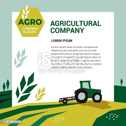 istock Agricultural company design template 1167956896