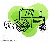 istock Agricultural Economics Vector Editable Line Illustration 1215935937