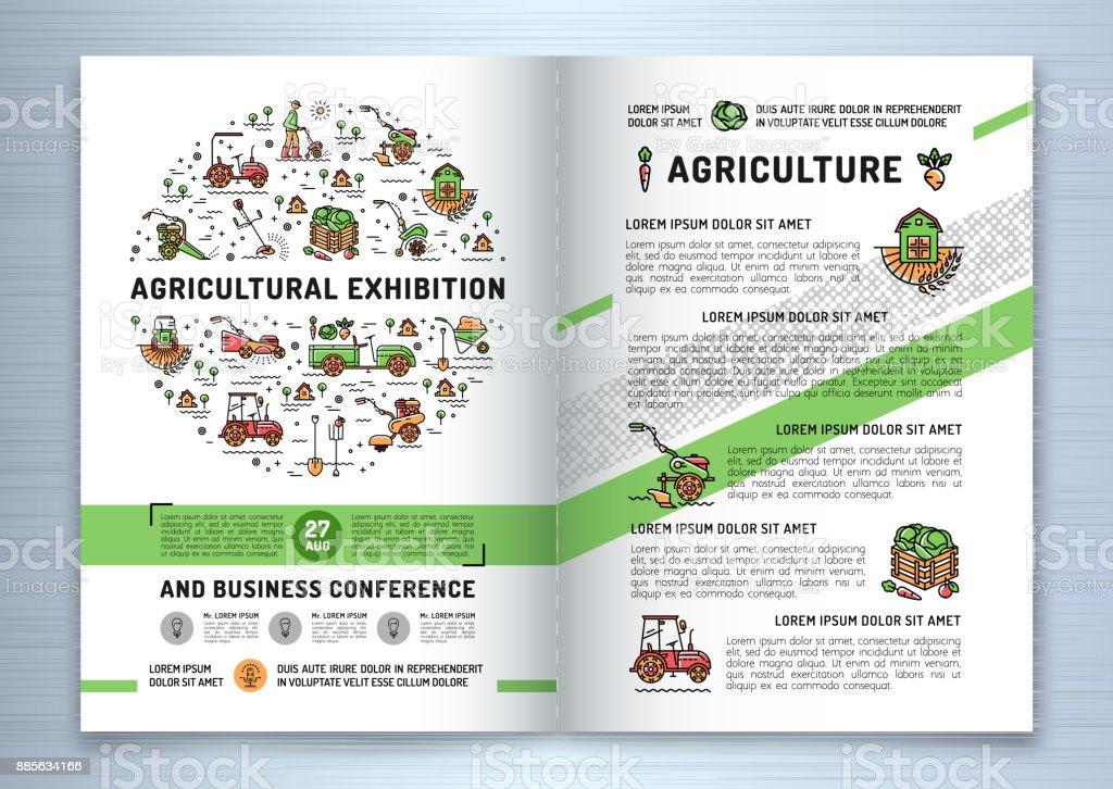 Landwirtschaftliche Ausstellung Business Broschüre Designvorlage ...