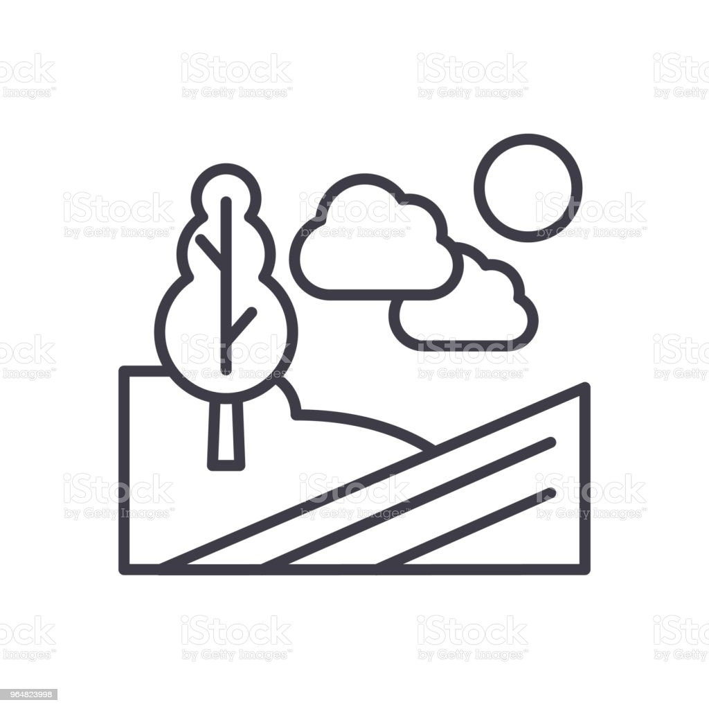 Agricultural grounds black icon concept. Agricultural grounds flat  vector symbol, sign, illustration. royalty-free agricultural grounds black icon concept agricultural grounds flat vector symbol sign illustration stock vector art & more images of agriculture