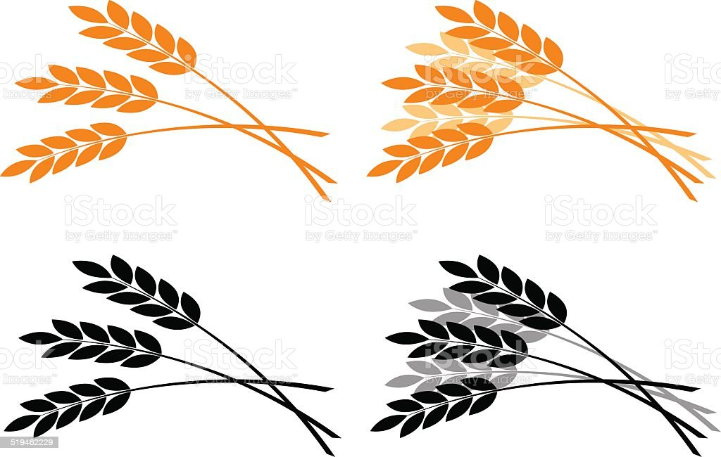 Agricultural icons vector art illustration