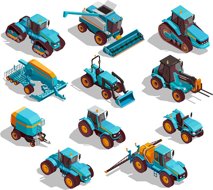 agricultural machines isometric