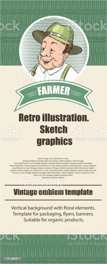 Landwirtschaftliche Vorlage Vintageillustration Im