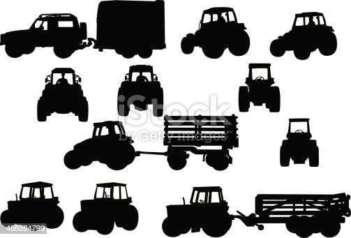 Vector agricultural vehicles shapes.