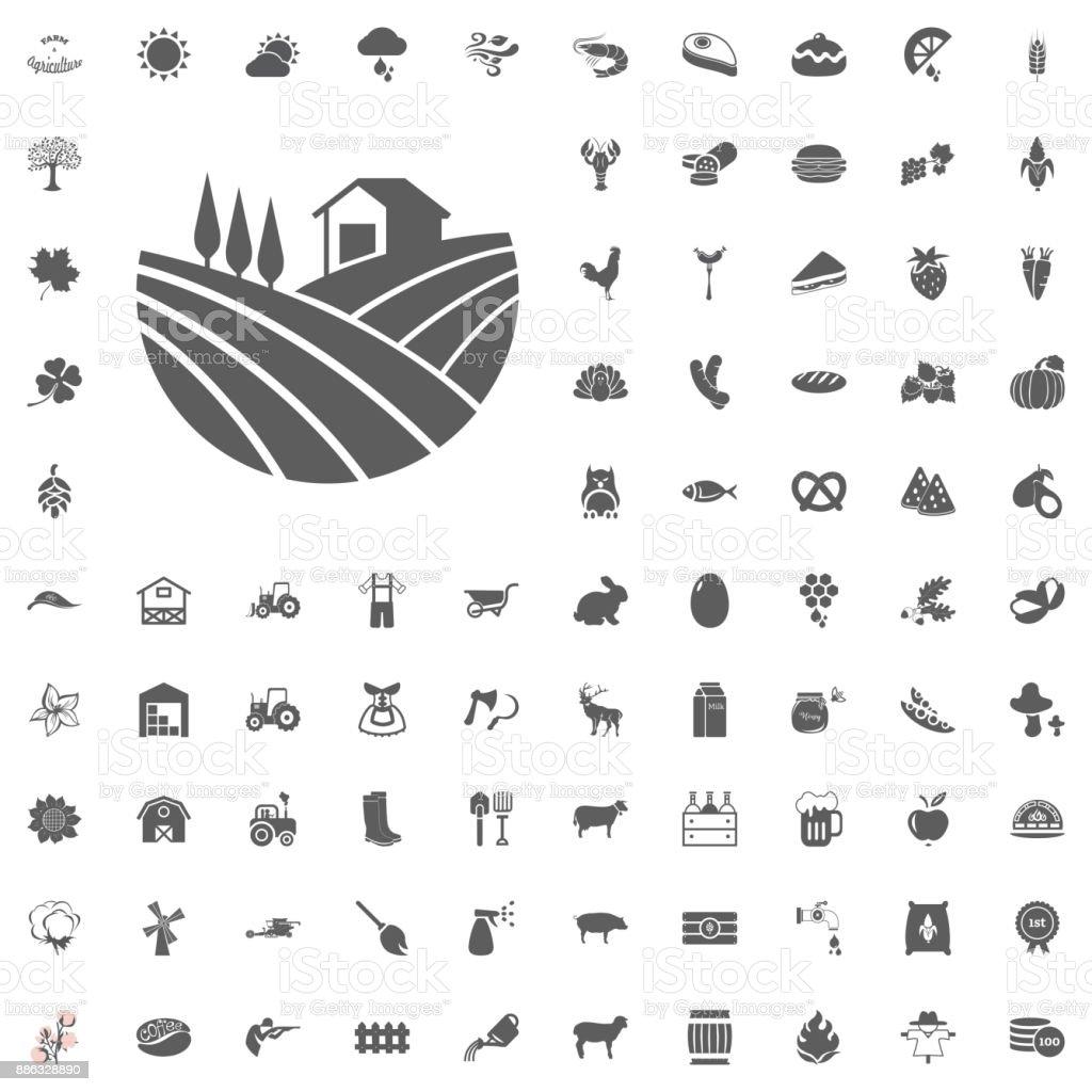 L'agriculture et la ferme Vector Icons Set - Illustration vectorielle