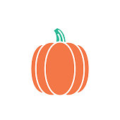 Agriculture And Farming Flat Design Icons: Pumpkin