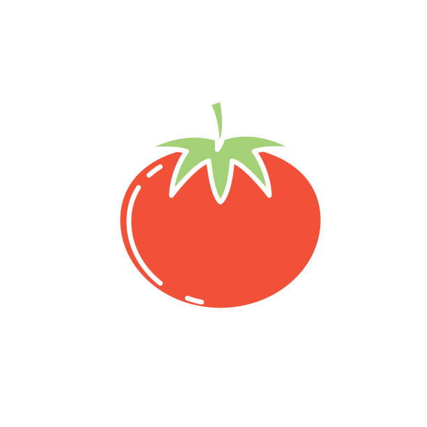 Agriculture And Farming Flat Design Icons: Tomato Agriculture and farming flat design icons in flat silhouette style. Clean simple shapes, easy to edit. tomato stock illustrations