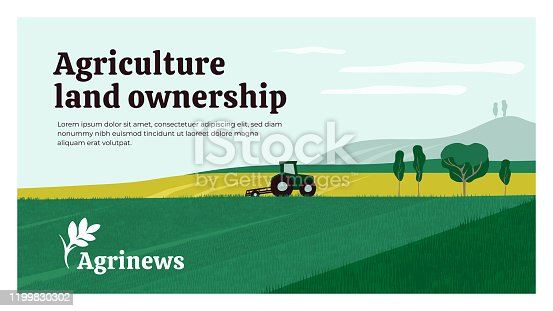 istock Agriculture design template for Agrinews 1199830302
