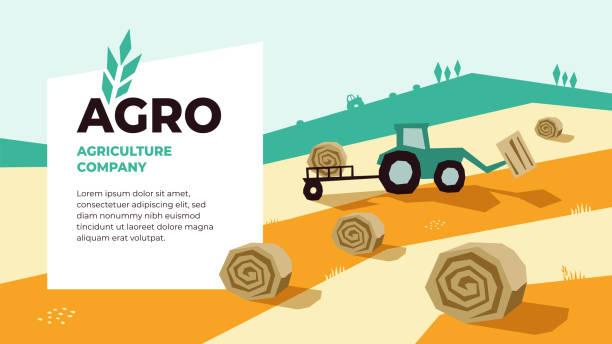 vorlage für die gestaltung der landwirtschaft - herbstgemüseanbau stock-grafiken, -clipart, -cartoons und -symbole