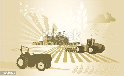A collection of farm related design elements.