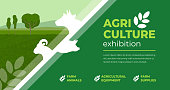 istock Agriculture exhibition design template 1212997622