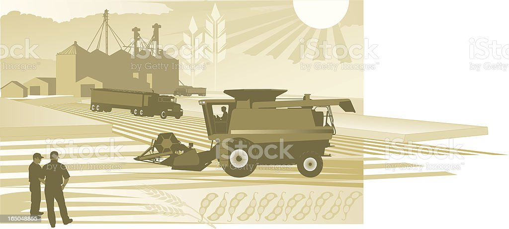 Agriculture: Harvest Time royalty-free stock vector art